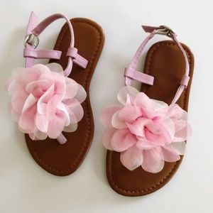 Other - Toddler 9 Pink Flower Thong Sandals